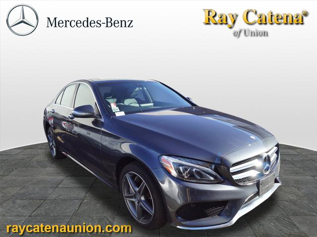 Certified pre owned 2015 mercedes benz c class c 300 for Ray catena mercedes benz